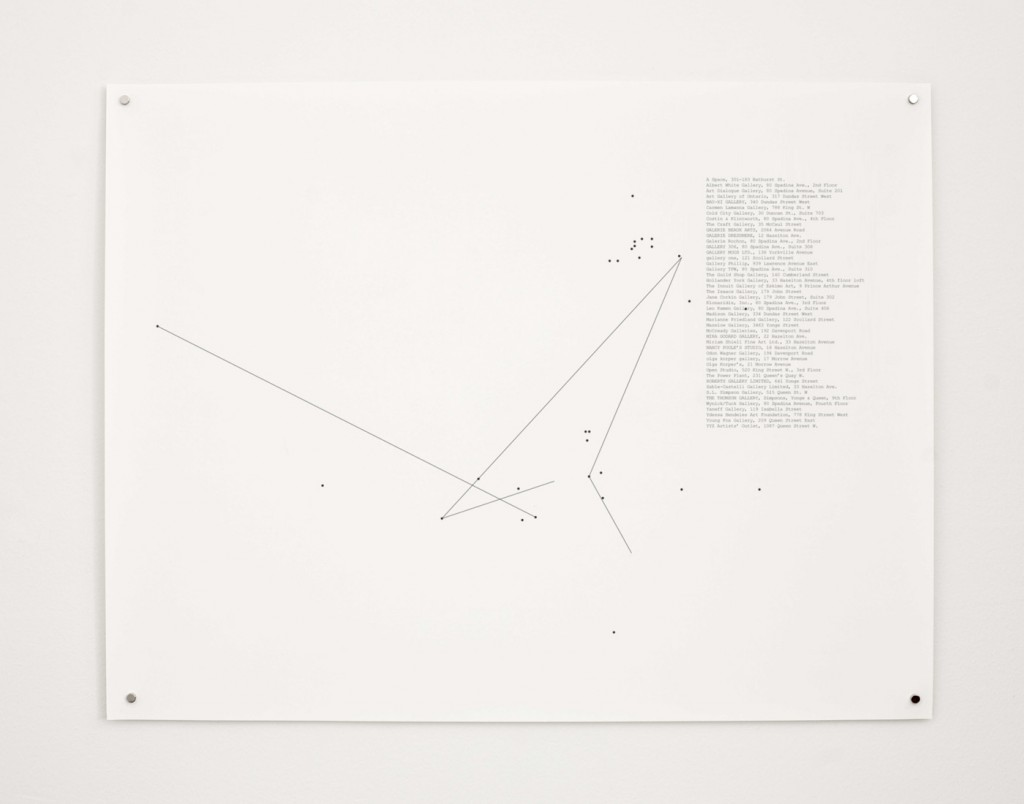 "Stop-Motion Migration No.2 (1990), 2010, 22 x 17"" digital print on paper, installation view"