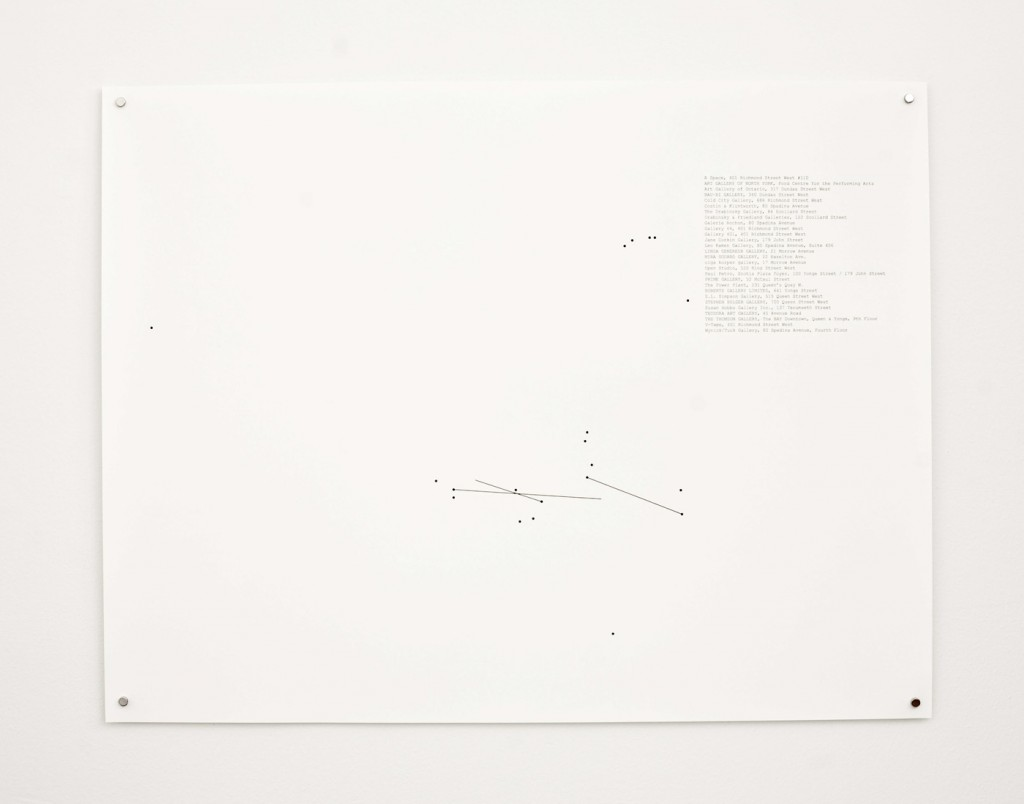"Stop-Motion Migration No.3 (1995), 2010, 22 x 17"" digital print on paper, installation view"