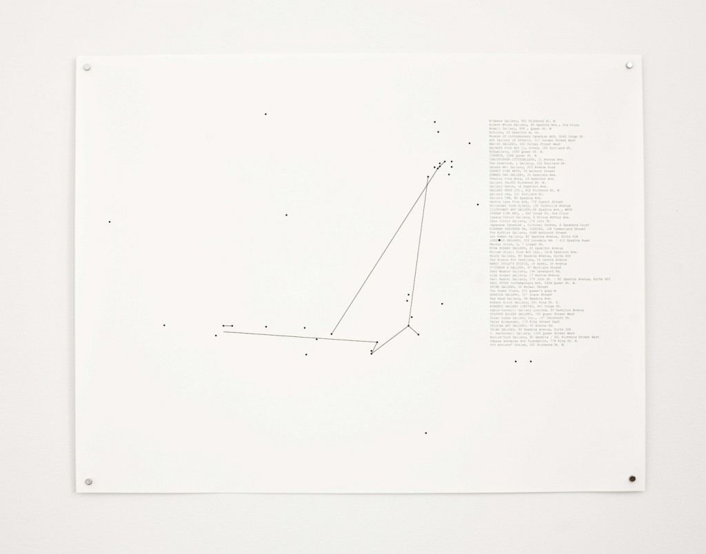 "Stop-Motion Migration No.4 (2000), 2010, 22 x 17"" digital print on paper, installation view"